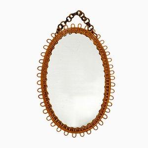 Italian Bamboo Mirror, 1960s