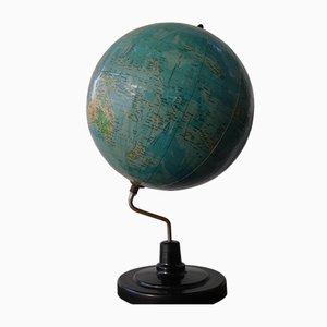 Rumänischer Globus im Art Deco Stil von Pamintul auf Bakelit Stand ø20cm