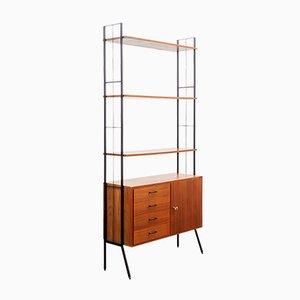 Mid-Century Walnut Freestanding Shelf