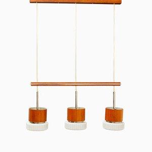 Lámpara colgante Mid-Century de 3 luces