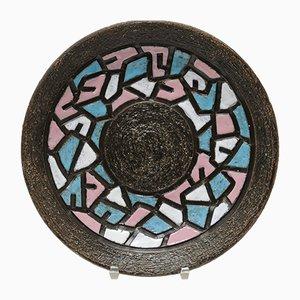 Piatto da parete in ceramica di Fratelli Fanciullacci, anni '60