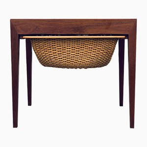 Mid-Century Danish Sewing Table by Severin Hansen for Haslev Møbelsnedkeri, 1960s