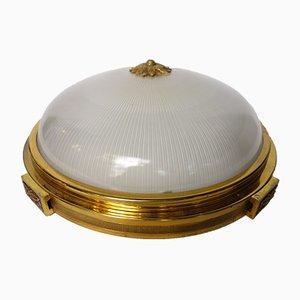 Lámpara de techo Art Déco de Holophane, años 20