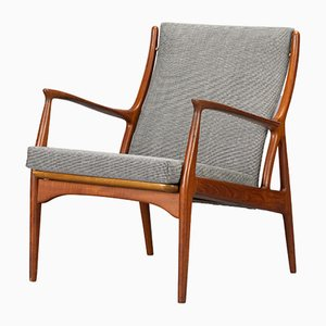 Teak Lounge Chair by Erik Andersen and Palle Pedersen for Horsnaes Møbler, 1960s