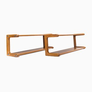 Teak Shelves, 1960s, Set of 2