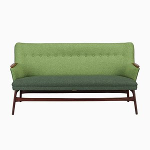 Dänisches Grünes Sofa von CFC Silkeborg, 1960er
