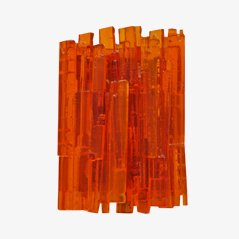 Grande Applique Murale Orange par Claus Bolby pour CeBo Industri