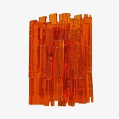 Grande Applique Murale Orange par Claus Bolby pour CeBo Industri