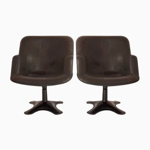 Mid-Century Finnish Model Junior Swivel Chairs by Yrjo Kukkapuro for Haimi, 1960s, Set of 2