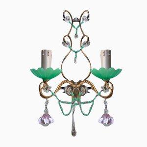 Französische Vintage Wandlampen, 2er Set