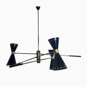 Lámpara de techo Mid-Century de Stilnovo, años 50