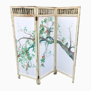Mid-Century Room Divider with Original Painting by Covadonga Valdés Moré
