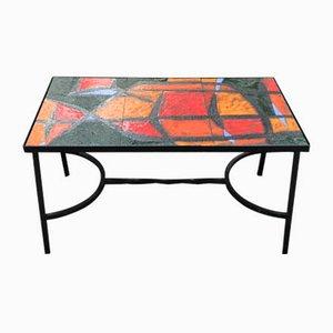 Tavolino da caffè in ceramica di Robert et Jean Cloutier per Vallauris, anni '60
