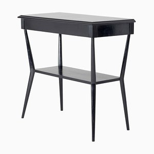 Mid-Century Ebonized Two-Tiered Console Table