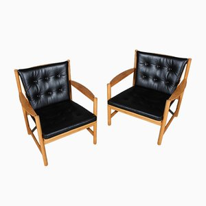 Lounge Chairs by Børge Mogensen, 1970s, Set of 2