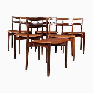 Palisander Esszimmerstühle von Harry Østergaard, 1960er, 6er Set