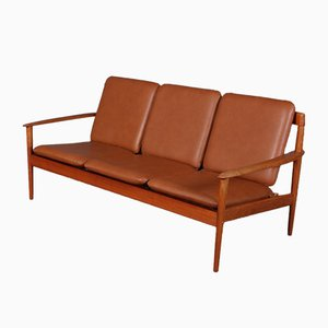 Teak Model 56 3- Seater Sofa by Grete Jalk, 1960s
