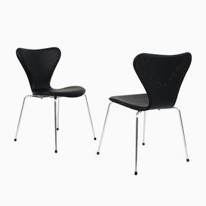 Chaise de Salle à Manger Modèle 3107 Mid-Century par Arne Jacobsen pour Fritz Hansen