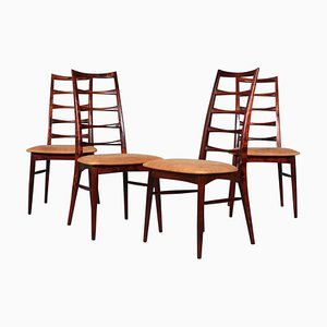 Model Lis Dining Chairs by Niels Koefoed, 1960s, Set of 4