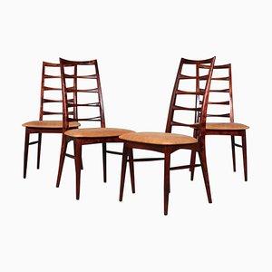 Modell Lis Esszimmerstühle von Niels Koefoed, 1960er, Set of 4