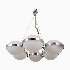 Large Austrian Disk Ceiling Lamp from Vest Leuchten, 1960s