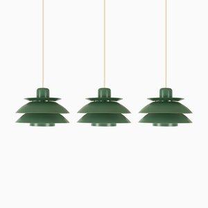 Lampade da soffitto di E.S.Horn per Horn Belysning, Danimarca, anni '60, set di 3