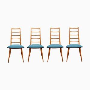 Esszimmerstühle von Dettinger für Lübke, 1950er, 4er Set
