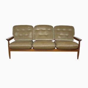 Skandinavisches Teak 3-Sitzer Sofa, 1960er
