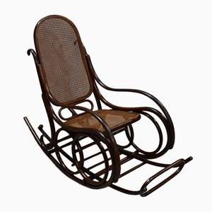 Antique Beech Rocking Chair, 1900s