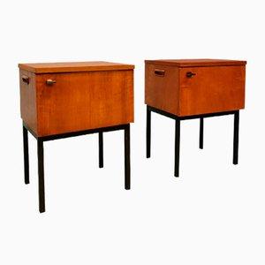 Tables de Chevet Industrielles Vintage, 1960s, Set de 2