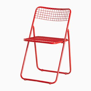 Red Ted Net Folding Chair by Niels Gammelgaard for Ikea, 1970s