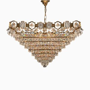 Mid-Century Crystal Chandelier, 1970s