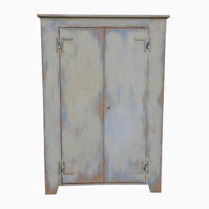 Rustic Painted Cabinet, 1950s