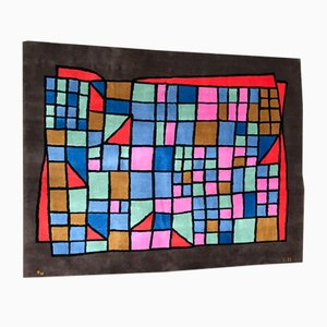Alfombra vintage de Paul Klee para Nazmiyal, años 70