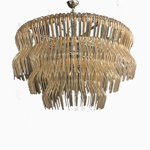 Large Murano Glass Jellyfish Chandelier from Vistosi, 1980s