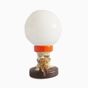 Deutsche Fat Lava Tischlampe aus glasierter Keramik, 1970er