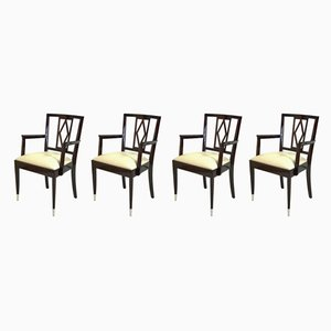 Art Deco Belgian Armchairs from De Coene Frères, 1930s, Set of 4