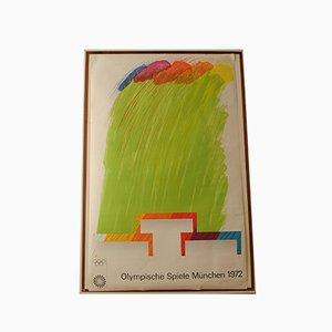 Colours on Podium Munich Olympics Lithografie von Richard Smith, 1972