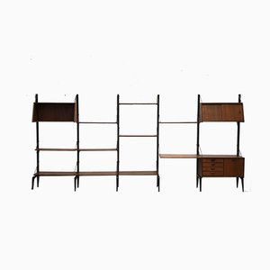 Large Dutch Modular Wall Unit by Louis van Teeffelen for WéBé, 1950s