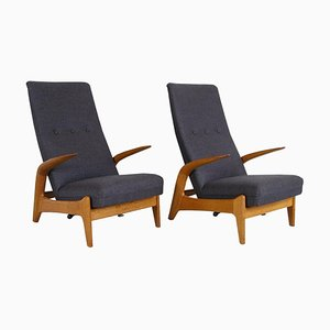 Mid-Century Norwegian Rock 'n' Rest Lounge Chairs by Rolf Rastad & Adolf Relling for Arnestad Bruk, 1960s, Set of 2