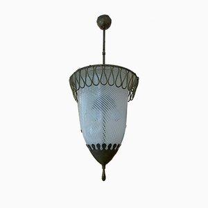Lámpara de techo Art Déco, años 50
