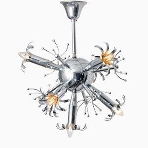 Lámpara de techo Sputnik Mid-Century, años 50