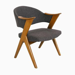 Mid-Century Norwegian Beech Blinken Desk Chair by Rolf Rastad & Adolf Relling for Hjellegjerde Møbler, 1950s
