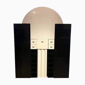 German Black and White Bar Cabinet from Interlübke, 1970s
