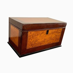 19th Century Biedermeier German Thuja Roots and Mahogany Casket Box