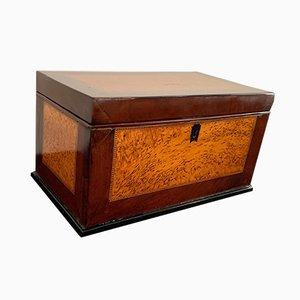 19th Century Biedermeier German Thuja Roots and Mahogany Casket Box