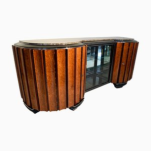 Art Deco French Amboyna Root and Rosewood Sideboard, 1920s
