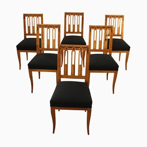 Antique Biedermeier German Dining Chairs, 1820s, Set of 6