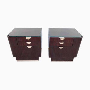 Bauhaus French Rosewood and Maple Nightstands, 1930s, Set of 2