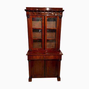 19th Century Biedermeier German Mahogany Display Cabinet